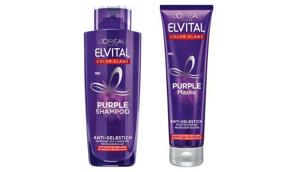 """""""Elvital Purple Shampoo"""" und """"Elvital Purple Mask"""" von L'Oréal Paris"""