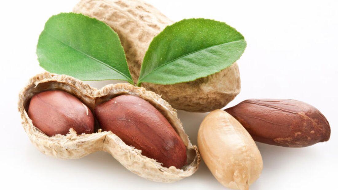 100 Gramm Erdnüsse enthalten ganze 168 Mikrogramm Folsäure.