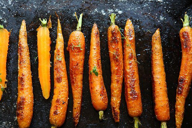 Abendessen: Gemüse aus dem Ofen