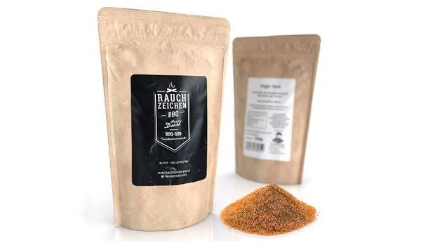 Aromatische Rubs aus getrockneten Gewürzen und Kräutern