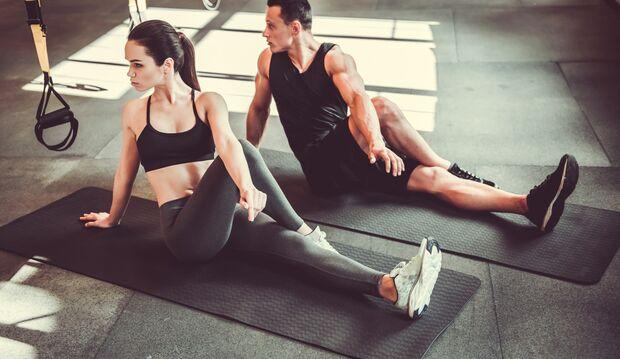 Auch immer mal gut für die Beinmuskulatur: Stretching