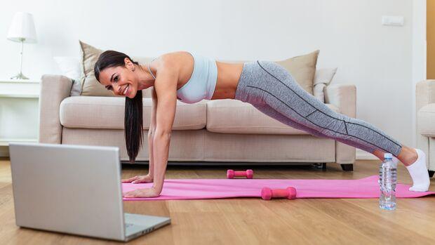 Auch zuhause kannst du effektiv trainieren