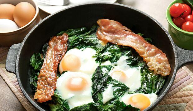 Bacon und Ei: super Keto-Food