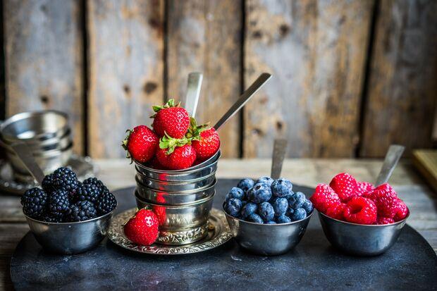 Beeren haben einen niedrigen Zuckeranteil