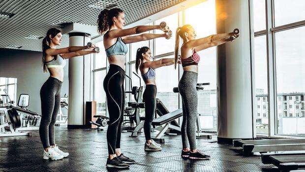 Beim Group-Workout ist genug Abstand wichtig