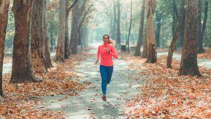 Beim Laufen in der Natur kann man dem Stress davonlaufen.