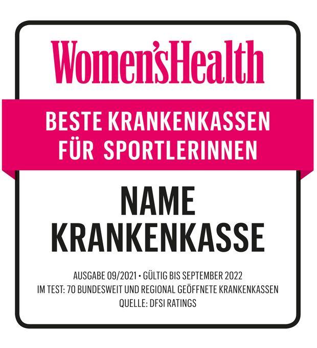 Beispiel: So sieht das Women's-Health-Siegel aus