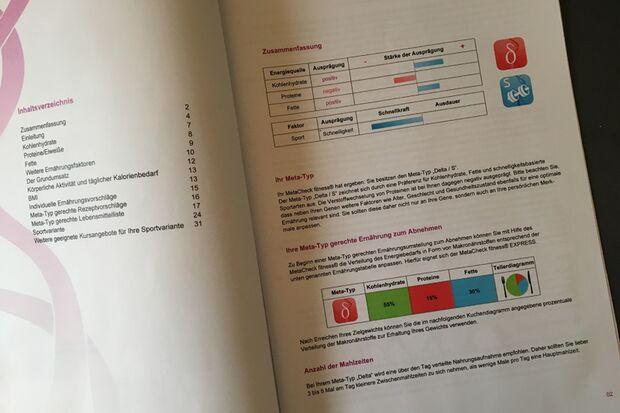 Blick in die Stoffwechsel-Analyse nach dem DNA-Test