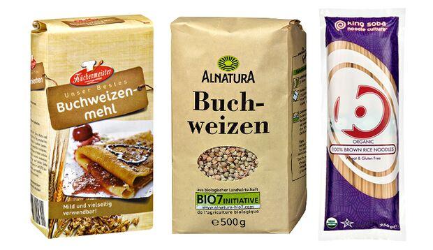 Buchweizen-Produkte aus dem Supermarkt