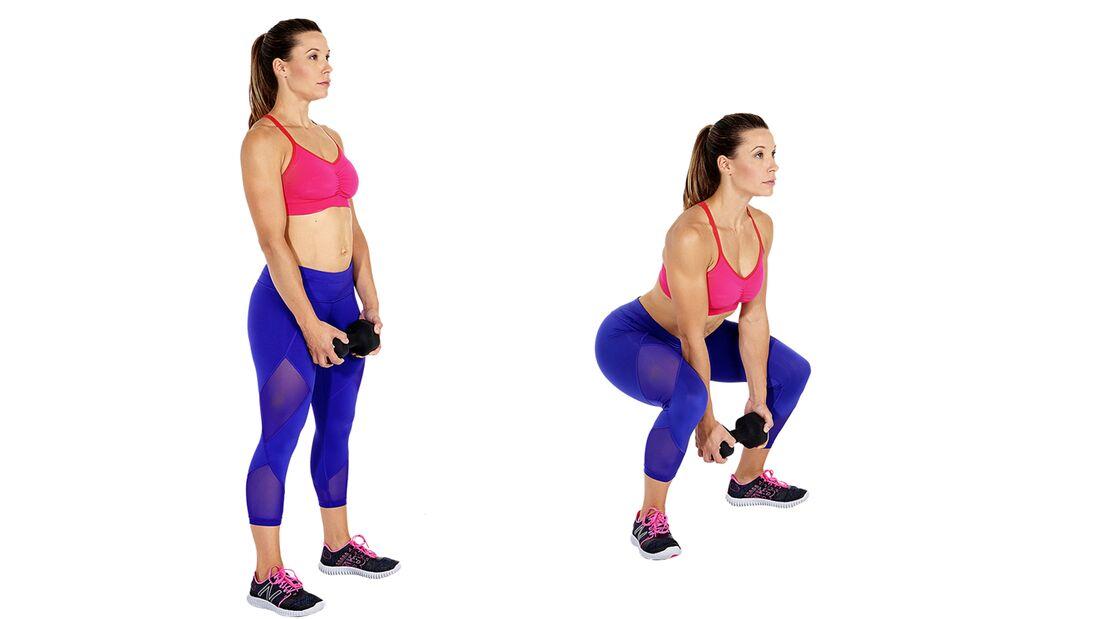 Das Po-Workout: Sumo-Kniebeugen