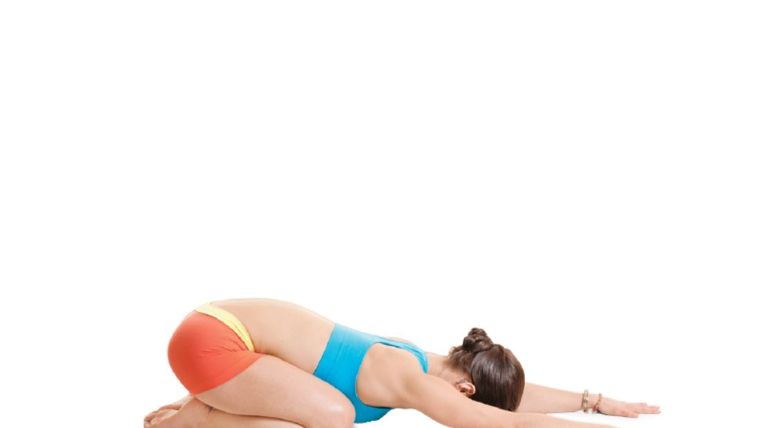 Den Körper entgiften beim Yoga: Kindpose