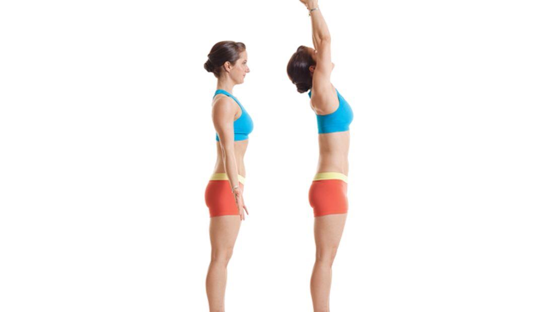 Den Körper entgiften beim Yoga: Stand und Bergpose
