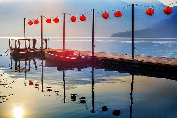 Der Sonne-Mond-See in Taiwan