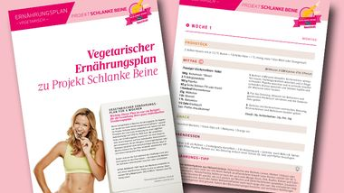 Der vegetarische Ernährungsplan von Projekt Schlanke Beine als Download