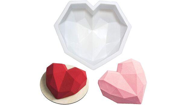 Diamant Herz Silikon Kuchen Form