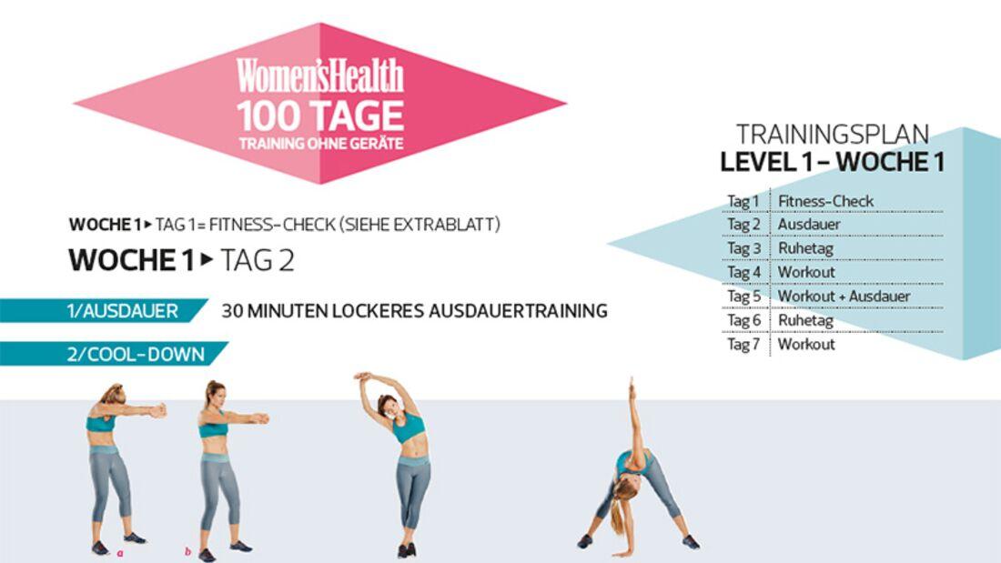Die Trainings- und Ernährungspläne der 100-Tage-Challenge