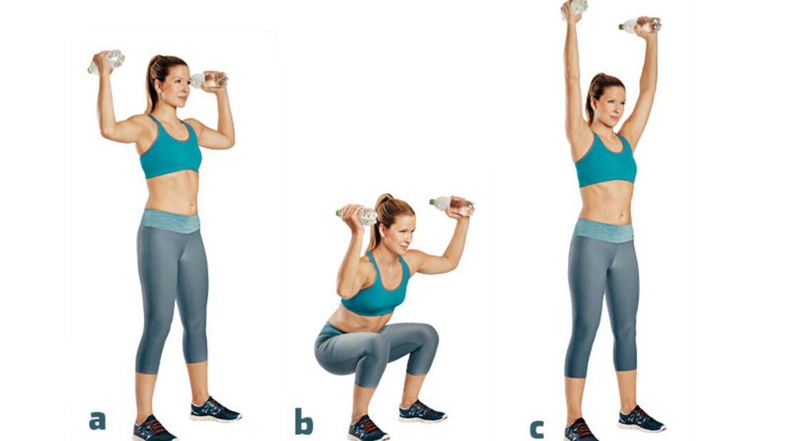 Die besten Übungen für die Traumfigur: Kniebeugen mit Armstrecken