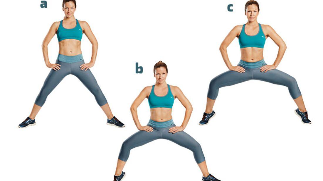 Die besten Übungen für die Traumfigur: Weite Kniebeugen