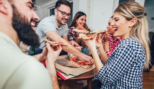 Du darfst auch mal Pizza essen