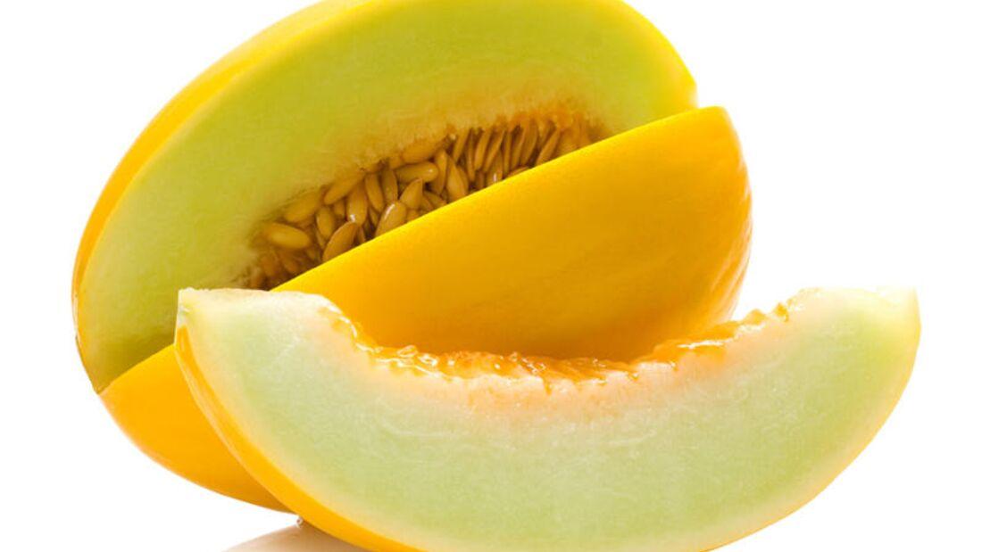 Eine Portion (150 Gramm) Honigmelone enthält 50 Milligramm Vitamin C