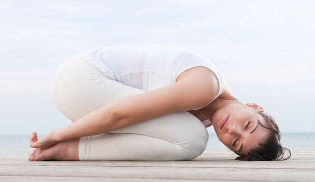 Entspannte Yoga-Übungen