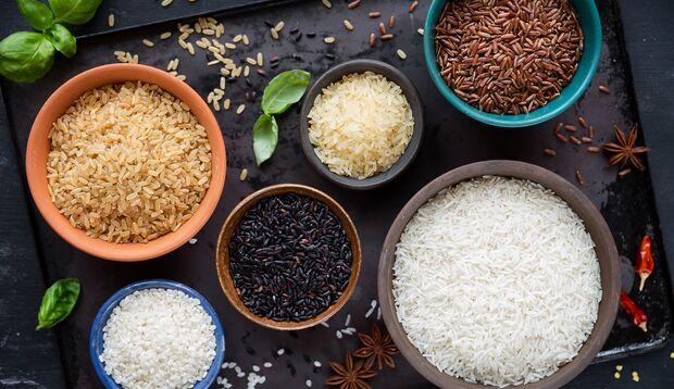 Es gibt viele unterschiedliche Reissorten