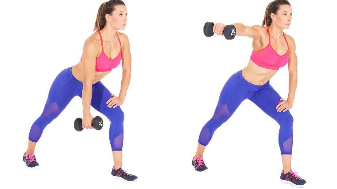 Fit in 15 Minuten: Oberkörper trainieren durch Hantel-Seitheben