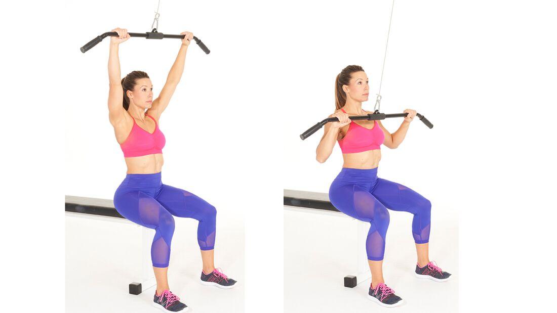 Fit in 15 Minuten: Oberkörper trainieren durch den Latzug