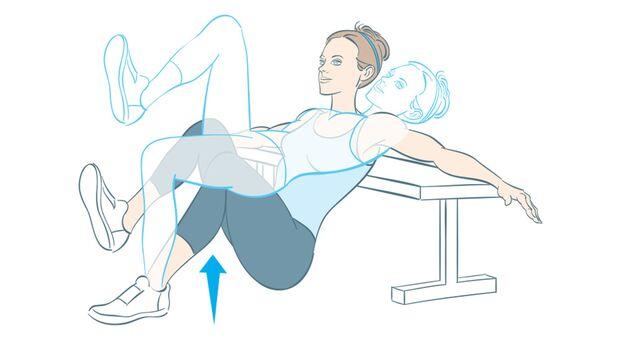 Fitnesstest Hüftheben