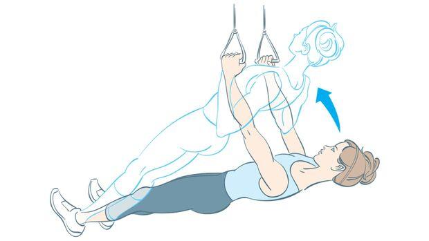 Fitnesstest Rudern am Schlingentrainer