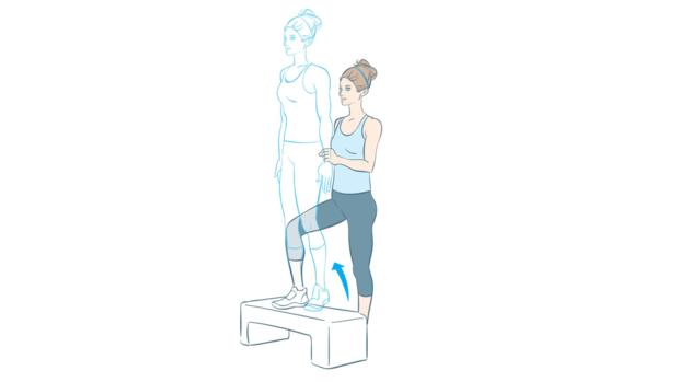 Fitnesstest Step-ups