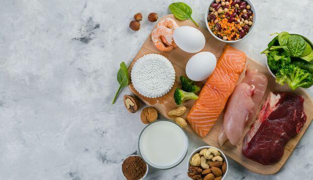 Fleisch, Fisch und Eier dürfen gerne in den Plan eingebaut werden