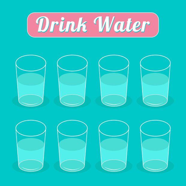 Führen Sie eine To-drink-Checkliste zum Ausdrucken