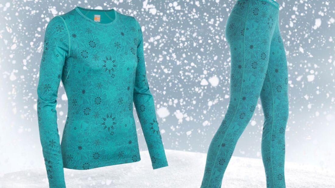 Funktionsunterwäsche von Icebreaker, Hose zirka 80 Euro und Shirt zirka 90 Euro
