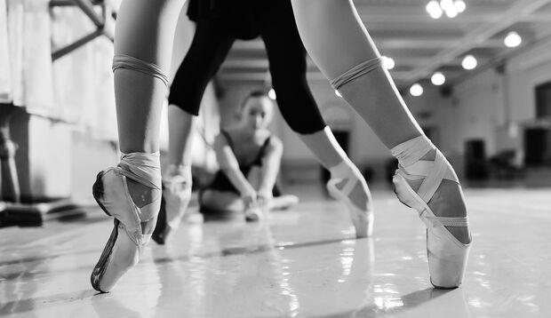Fußposition beim Ballett