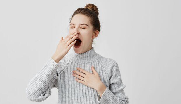Gähnen dehnt die Kiefermuskulatur