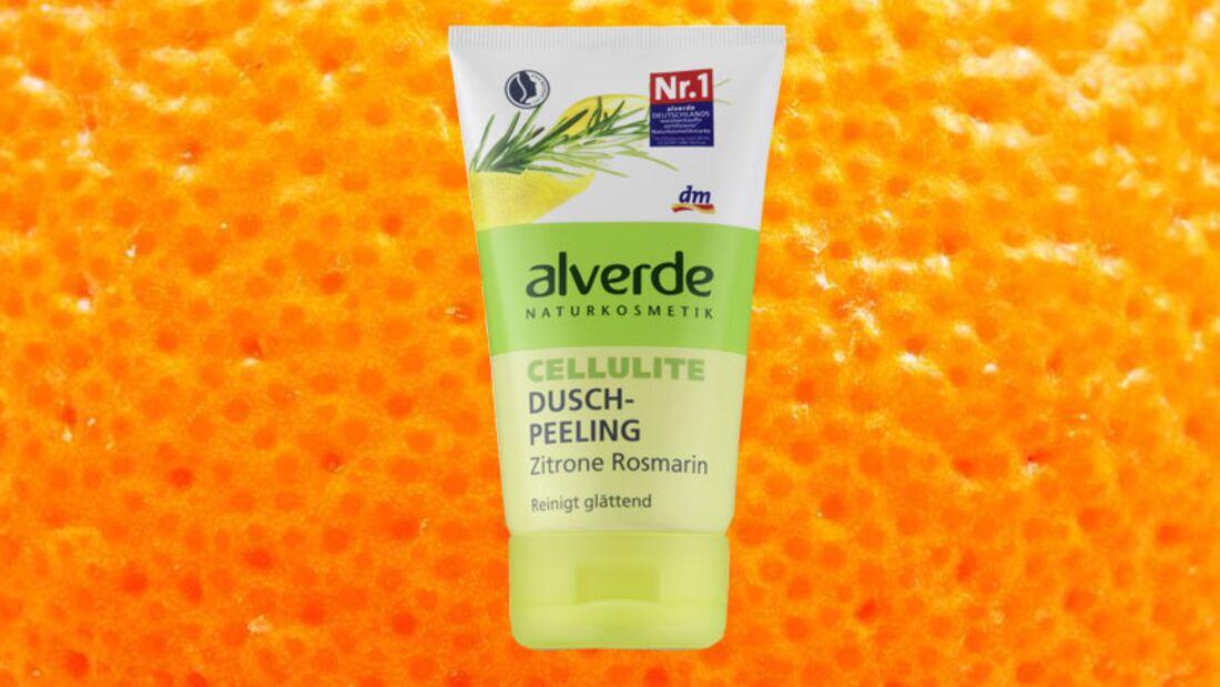 Gegen Cellulite: Cellulite Duschpeeling Rosmarin Zitrone von alverde über dm