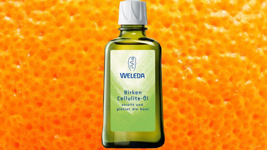 Gegen Cellulite: Glättendes und hautstraffendes Birken Cellulite-Öl von Weleda
