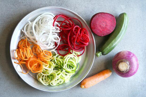 Gemüsepasta in allen Variationen und Farben