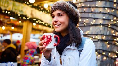 Gesundes Essen auf dem Weihnachtsmarkt