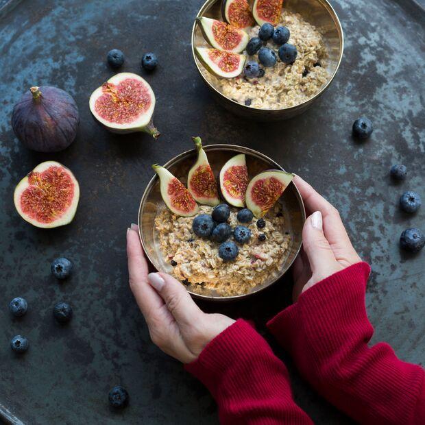 Haferflocken zum Frühstück als Start in einen stressfreien Tag