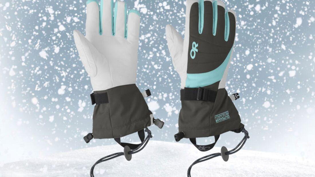 Handschuhe von Outdoor Research, zirka 70 Euro
