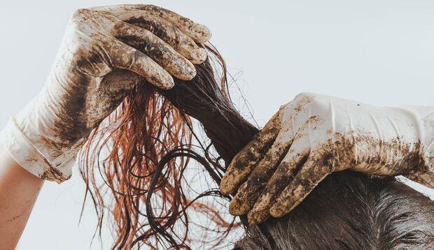 Heilerde-Haarkur für fettiges Haar