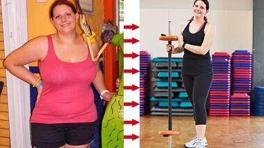 Jasmin hat abgenommen: vorher wog sie 110 Kilo und nachher 70 Kilo