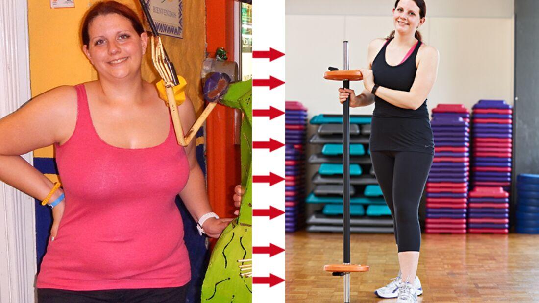 Jasmin hat erfolgreich abgenommen: Vorher wog sie 110 Kilo und nachher 70 Kilo