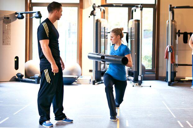 Jessica trainiert mit der ViPR
