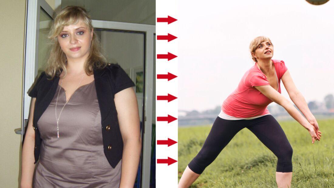 Julia wog vorher 98 und nachher 69 Kilo