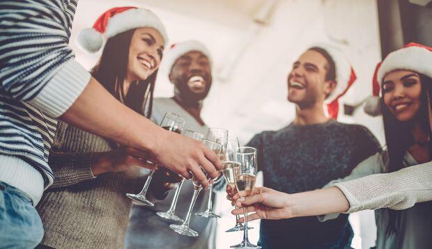 Kalorien sparen auf der Weihnachtsfeier