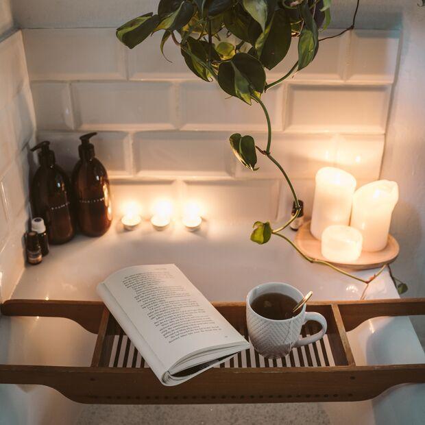 Kerzenschein Badewanne