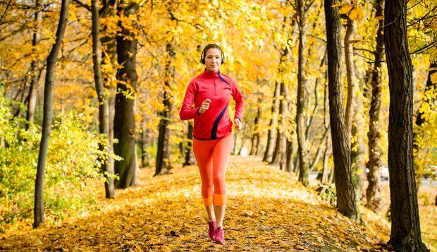 Laufen im Herbst und Winter